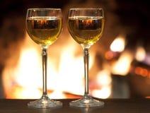 vinho pelo vidro Imagens de Stock