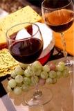 Vinho, queijo, pão foto de stock royalty free