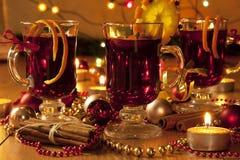 Vinho quente do Natal Foto de Stock