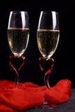 Vinho sparkling branco para dois Fotos de Stock Royalty Free