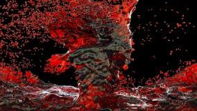 Vinho tinto isolado no fundo preto rendição 3d Fotos de Stock Royalty Free
