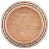 Vinho, uísque, rum, opinião superior de tambor de cerveja Imagem de Stock