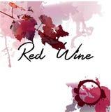 Vinho vermelho com folhas da uva Imagens de Stock Royalty Free
