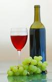 Vinho vermelho com uvas fotos de stock royalty free