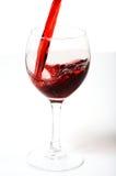 Vinho vermelho de vidro Imagens de Stock Royalty Free