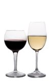 Vinho vermelho e branco Fotografia de Stock