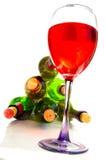 Vinho vermelho e frascos Imagens de Stock