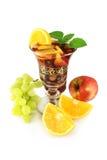 Vinho vermelho e fruta Fotografia de Stock