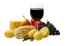 Vinho vermelho e fruta Fotografia de Stock Royalty Free