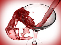 Vinho vermelho e vidro de vinho Ilustração Stock