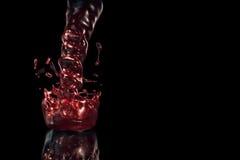 Vinho vermelho mágico Foto de Stock Royalty Free