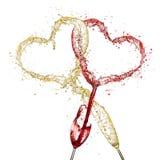 Vinhos Loving Imagem de Stock Royalty Free