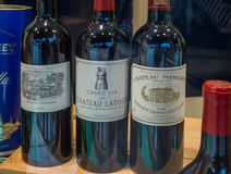 Vinhos tintos do ` s do mundo os melhores Imagem de Stock Royalty Free
