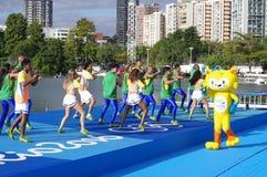 Vinicius,里约2016年奥运会吉祥人  免版税库存图片