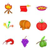 Viniculture icons set, cartoon style. Viniculture icons set. Cartoon set of 9 viniculture vector icons for web isolated on white background vector illustration