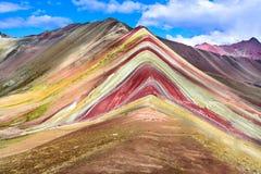 Vinicunca,彩虹山-秘鲁 库存照片