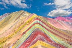 Vinicunca или гора радуги, Pitumarca, Перу Стоковые Изображения RF