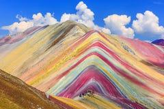 Vinicunca, Cusco Region, Peru. Montana de Siete Colores, or Rainbow Mountain Royalty Free Stock Photography