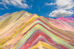 Vinicunca eller regnbågeberg, Pitumarca, Peru Royaltyfria Bilder