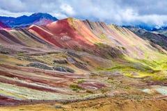 Vinicunca, montanha do arco-íris - Peru fotografia de stock