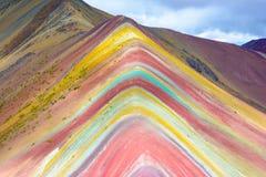 Vinicunca ou montanha do arco-íris, Pitumarca, Peru fotos de stock
