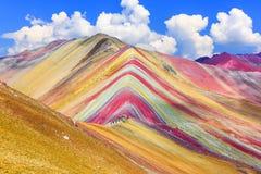Vinicunca, région de Cusco, Pérou image libre de droits