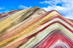 Vinicunca, Rainbow Mountain - Peru royalty free stock photo