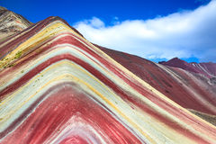 Vinicunca, Rainbow Mountain - Peru Stock Image