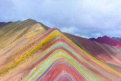Vinicunca or Rainbow Mountain,Pitumarca-Peru Stock Photo