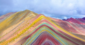 Vinicunca or Rainbow Mountain,Pitumarca-Peru Stock Image