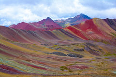 Vinicunca or Rainbow Mountain,Pitumarca-Peru Royalty Free Stock Photography