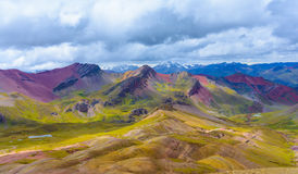Vinicunca or Rainbow Mountain,Pitumarca-Peru Stock Images