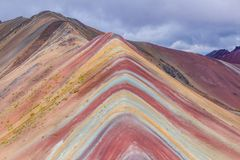 Vinicunca, região de Cusco, Peru imagens de stock royalty free