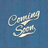 Viniendo pronto, cartel de la venta, imagen del vector Imagen de archivo