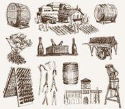 Vinificación. la producción de vinos espumosos Imagen de archivo libre de regalías