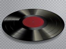 Vinil de LP vermelho acima ilustração stock