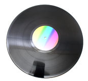 Vinil disc for club party stock images