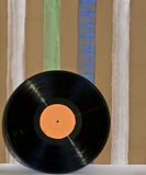 Vinil Disk and wallpaper Royalty Free Stock Image