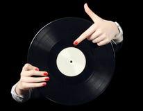 Vinile record Fotografia Stock Libera da Diritti
