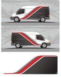 Vinili & decalcomanie per il furgone, grafici del veicolo dei camion nel formato isolato illustrazione di stock