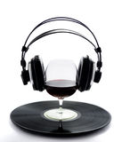 Vinilo de cristal del vino Foto de archivo libre de regalías