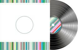 Vinilo labrado retro con la cubierta moderna Imagenes de archivo