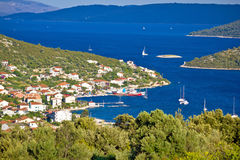 Vinisce village bay sailing destination. Dalmatia, Croatia Stock Images