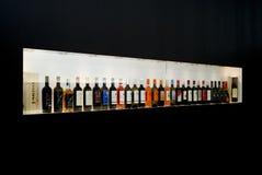 vinitaly陈列国际酒 库存照片