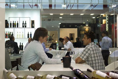 Vinitaly: Exposição internacional do vinho fotografia de stock royalty free