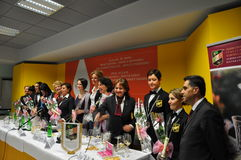 Vinitaly international wine show Italy stock photo
