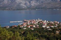 Vinjerac, a small coastal town on the Adriatic Sea in Croatia Royalty Free Stock Image