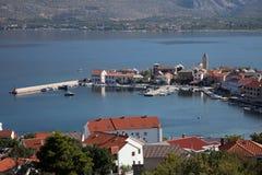 Vinjerac, a small coastal town on the Adriatic Sea in Croatia Royalty Free Stock Photography