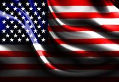 Vinka amerikanska flaggan Royaltyfri Bild