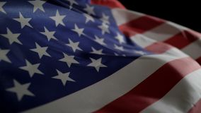 Vinka av amerikanska flagganultrarapid lager videofilmer